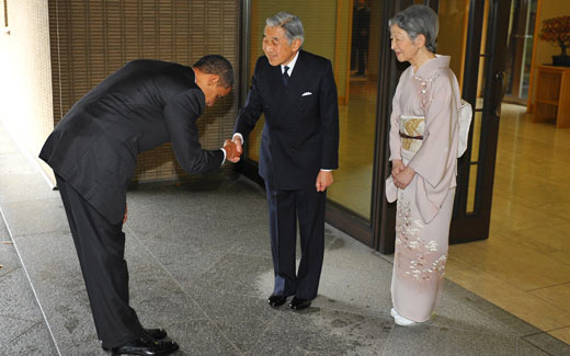 Obama Bows To Japanese Emporer