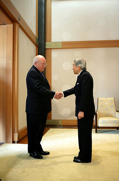 Cheney meets Japanese Emperor