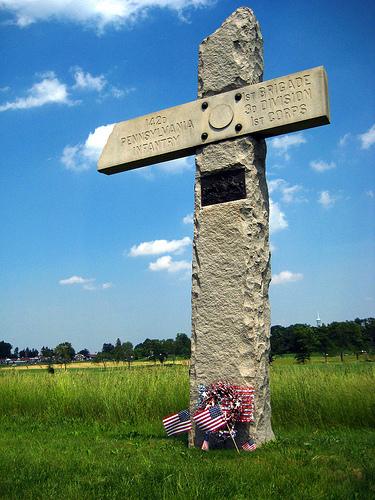 142 Penn Inf Cross at Gettysburg