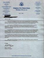 Letter From Paul Kanjorski